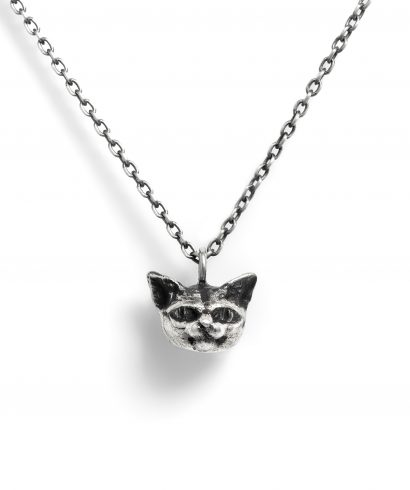 silver women's animal necklace