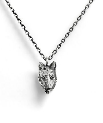 silver women's and men's animal necklace
