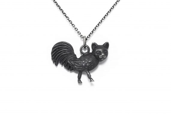 Silver women's animal pendant made in Montreal
